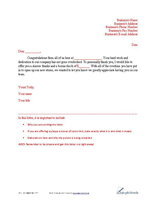 Sample Appreciation Letter Writing Professional Letters. Format Of