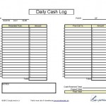 Daily Cash Log  Daily Cash Report Template