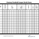 Fantasy Football League Draft Form