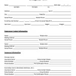 Emergency Contact Form Premium