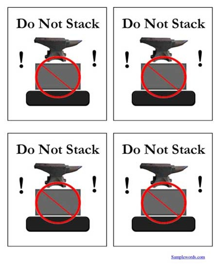Shipping Label - Do Not Stack