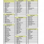 Printable Baby Checklist