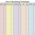 Hour Calculating Time Sheet