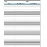 Printable Sign-In Sheet