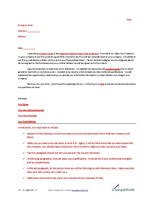 Sample Of Letter Of Interest from www.samplewords.com