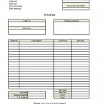 Standard Business Invoice Template