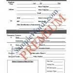 Employee Information / Data Sheet – Premium