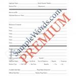 Pre-Employment Checklist - Premium