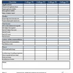 College Application Checklist (Page 1 of 2)