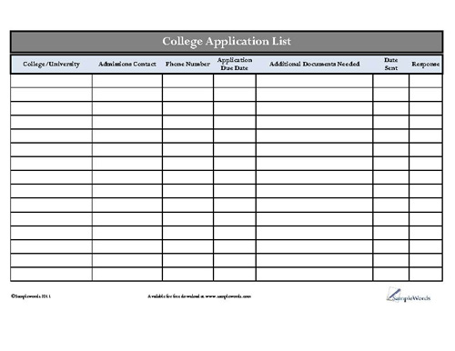 College application service