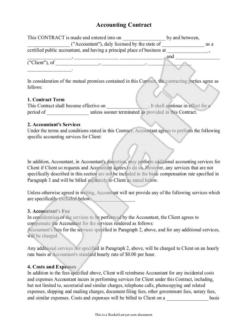 Sample Contract For Accounting Services Boatjeremyeatonco - Sample invoice for bookkeeping services